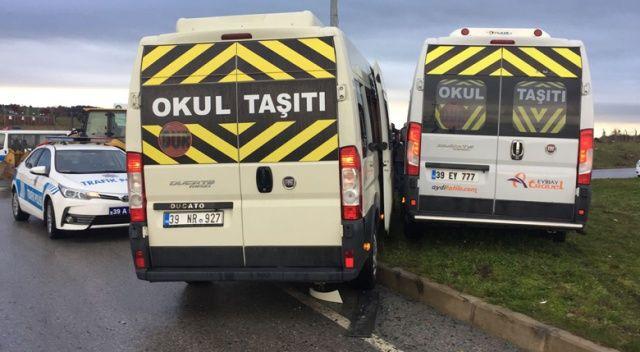 Kırklareli'de öğrenci servisleri çarpıştı, 15 kişi yaralandı
