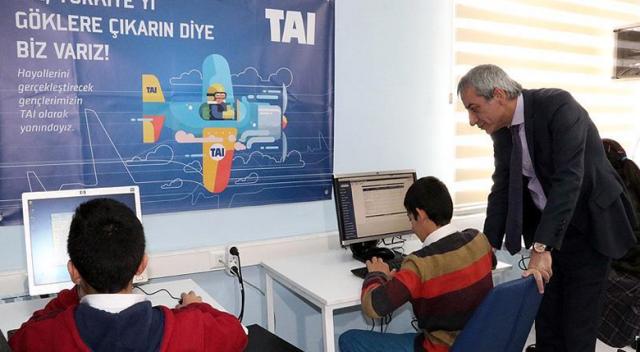 TAI'den köy okullarına laboratuvar ve eğitim desteği