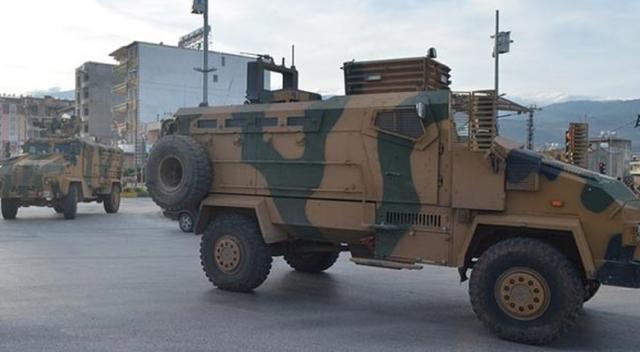 Takviye askerî araçlar Hatay'a ulaştı!