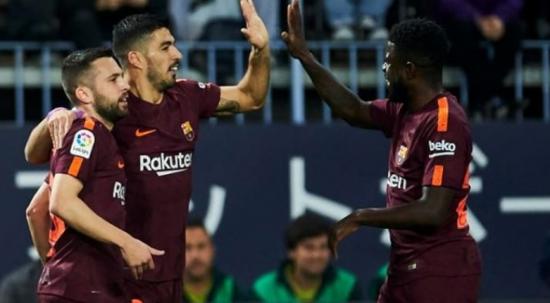 Barcelona, Malaga'yı 2 golle geçti