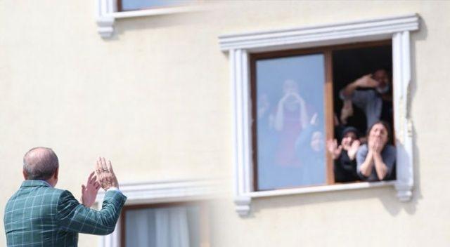 Cumhurbaşkanı Erdoğan'a İstanbul'a sevgi seli