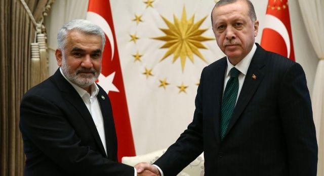 Cumhurbaşkanı Erdoğan, HÜDA PAR Genel Başkanı Yapıcıoğlu'nu kabul etti
