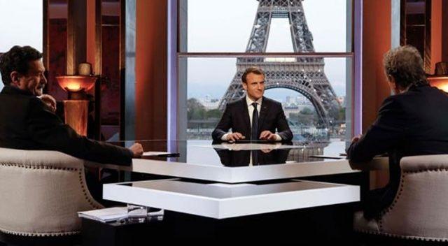 Macron'dan canlı yayında itiraf gibi açıklama: Amerikalıları biz ikna ettik