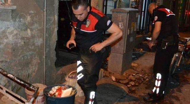 Polislerden kaçamayacağını anlayınca bonzaiyi çöpe attı