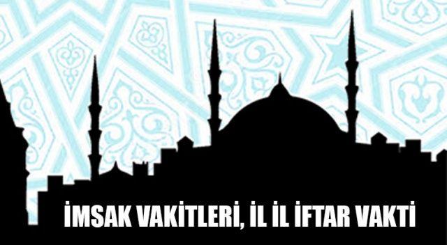İl il Ramazan İmsakiyesi | İl il sahur ve iftar vakitleri akşam ezanı saati, vakti