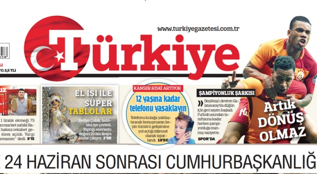 Dergilik'te en çok okunan gazete TÜRKİYE