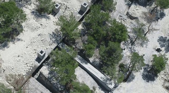 Teröristlere ait tam 700 metre kamp alanı bulundu