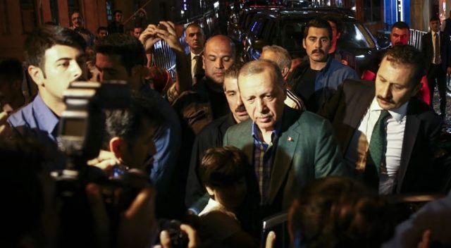 Erdoğan'ı memleketinden hemşehrileri uğurladı