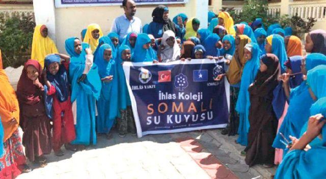 İhlas Koleji öğrencilerinde Somali'ye su kuyusu