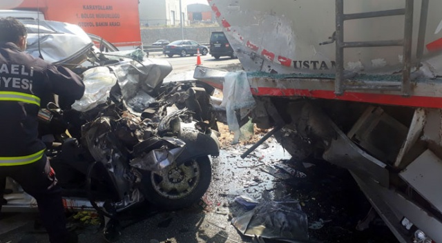 Osmangazi Köprüsü girişinde kaza: 2 ölü