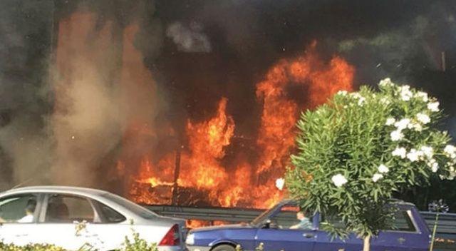 Bayrampaşa'da otobüs yanıyor! Olay yerine çok sayıda itfaiye ekibi sevk edildi