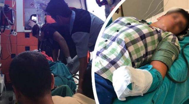 Çamaşır makinesine elini kaptıran çocuğun kolu koptu