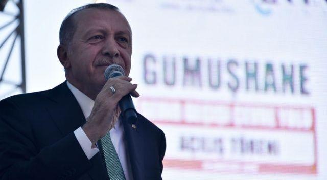 Cumhurbaşkanı Erdoğan Gümüşhane'de konuştu: Geçin o işi geçin