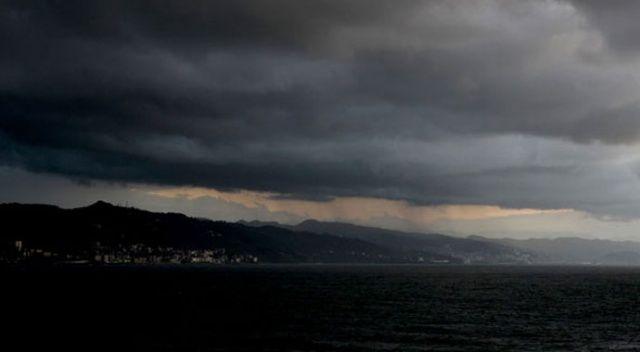 Karadeniz'i kara bulutlar kapladı
