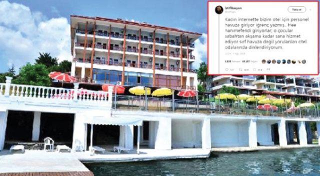 Otelin havuzuna giren personelini koruyan otel sahibi sosyal medyayı salladı