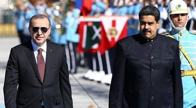 Son dakika... Cumhurbaşkanı Erdoğan Maduro ile görüştü