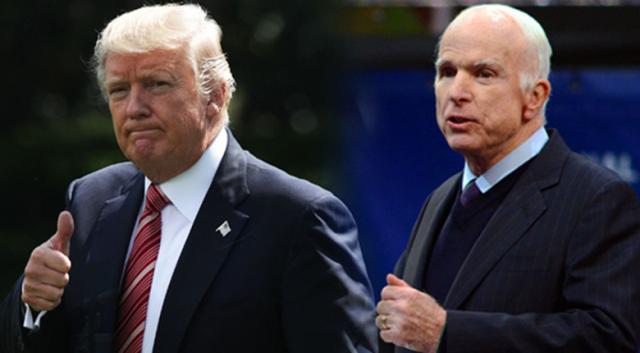 Trump'tan McCain'e 'saygı' açıklaması