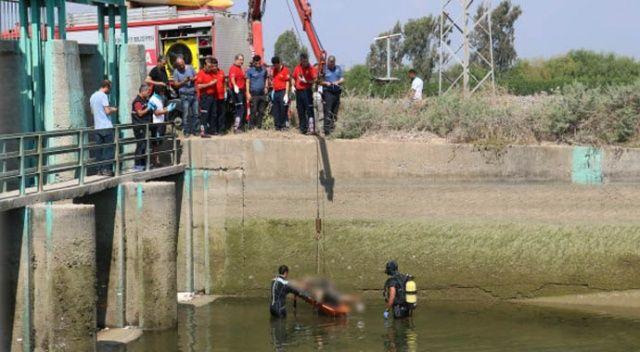 5 gündür kayıptı, kanalda bulunan cesedi vinçle çıkarıldı