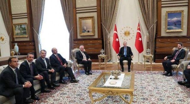 Erdoğan TÜSİAD heyetini Beştepe'de kabul etti
