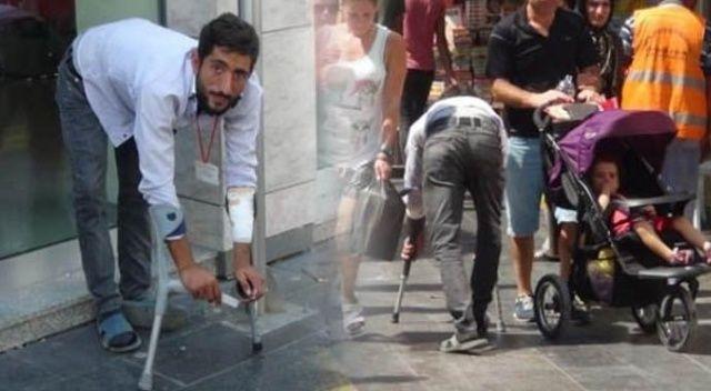 Sözde engelli dilenciye kaçarken kimse yetişemedi