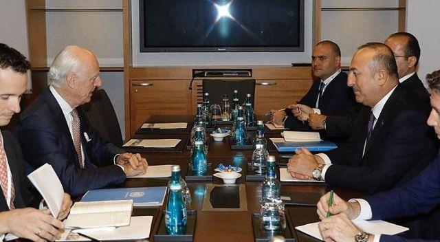 Çavuşoğlu ile Mistura Suriyeyi görüştü