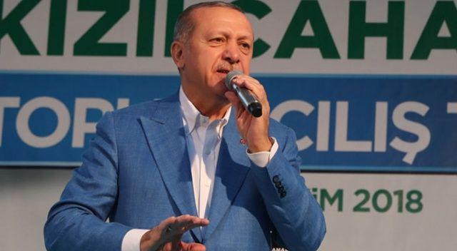 Cumhurbaşkanı Erdoğan: Teröre bulaşmış olanlar sandıktan çıkacak olurlarsa kayyum atarız