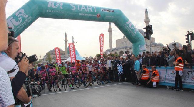 Cumhurbaşkanlığı Bisiklet Turu Konya'dan start aldı