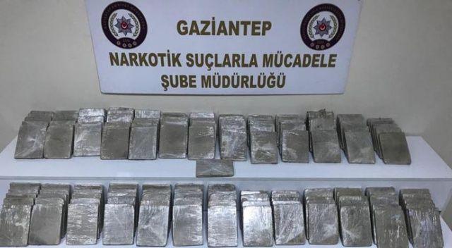 Gaziantep'te 67 kilo eroin ele geçirildi