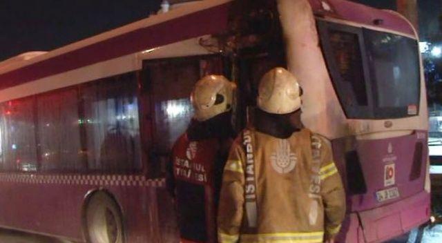 TEM otoyolunda korkutan otobüs yangını