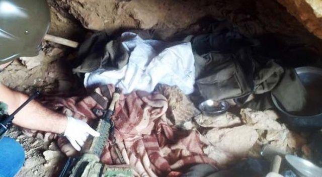 Van'da teröristin gösterdiği mağarada bakın neler çıktı?