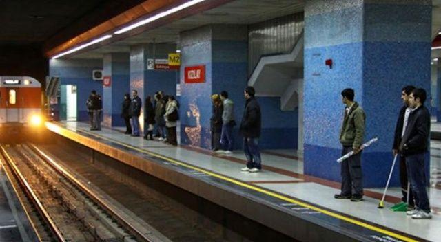 Ankara metro hattı kapatıldı