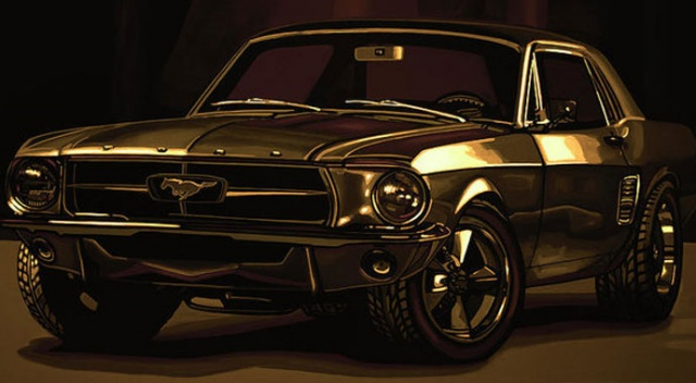 Klasik Mustang'a elektrikli motor