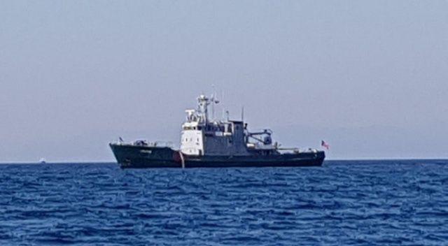 Türk karasularına giren Yunan gemisinden jet kaçış