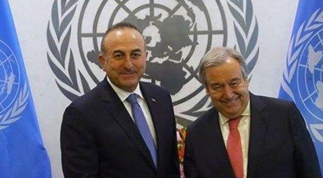 Bakan Çavuşoğlu, BM Genel Sekreteri Guterres ile görüştü