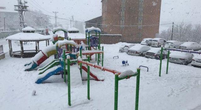 Bitlis'in Adilcevaz ilçesinde okullar kar sebebi ile tatil edildi
