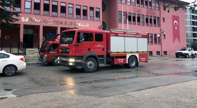 Bursa'da okulda yangın! Veliler haberi alır almaz koştu