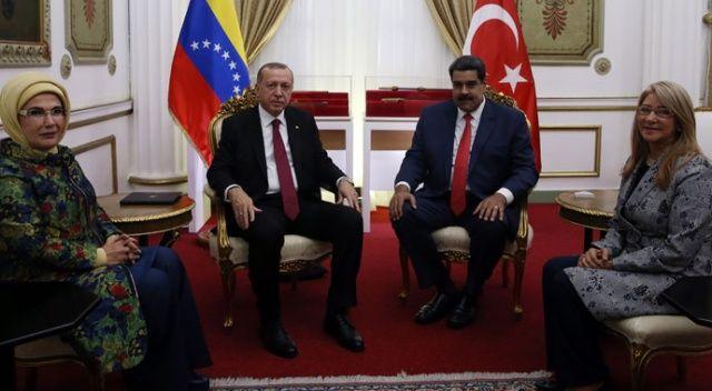 Cumhurbaşkanı Erdoğan, Venezuela Devlet Başkanı Maduro ile görüştü