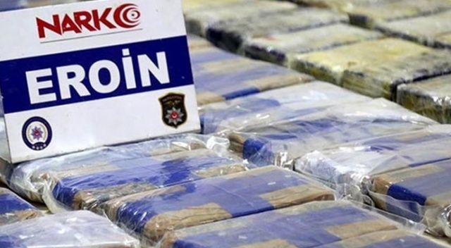 Erzincan'da durdurulan TIR'da yarım ton eroin yakalandı