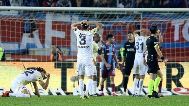 Fenerbahçe'den en kötü ilk yarı performansı