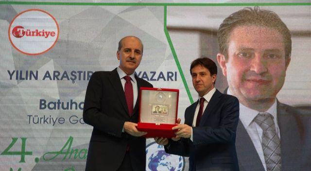 İhlas Medya Ankara Temsilcisi Batuhan Yaşar'a 'Yılın Araştırmacı-Yazarı' ödülü