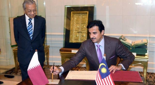 Katar Emiri Malezya Başbakanı ile görüştü