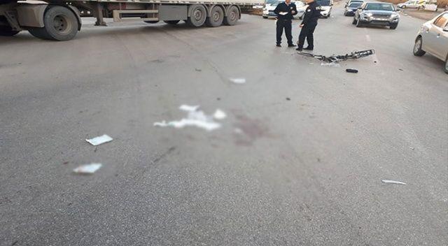 Kırıkkale'de korkunç kaza: Bisikletin üzerindeki 3 çocuğa kamyon çarptı