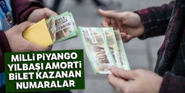 Milli Piyango Yılbaşı amorti bilet kazanan numaralar, Milli Piyango Çekiliş Sonuçları   Amorti milli piyango, 2019 sorgulama MPİ Tam Sıralı Listee