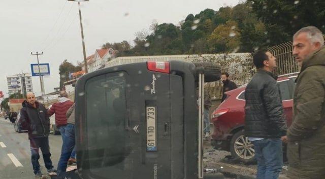 Trabzon'da trafik kazası: 1 ölü, 3 yaralı