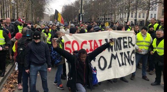 Belçika'da da 'sarı yelekliler' protestosu