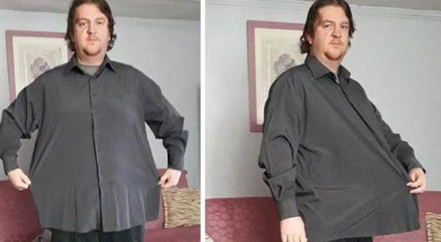 Bir yılda  42 kilo verdi