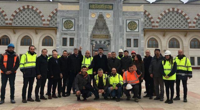 Çamlıca Camii'nin açılışı için gün sayılıyor