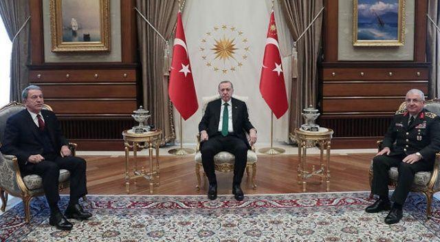 Cumhurbaşkanı Erdoğan, Akar ve Güler ile görüştü