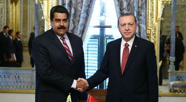 Cumhurbaşkanı Erdoğan, Venezuela Cumhurbaşkanı Maduro ile telefonda görüştü