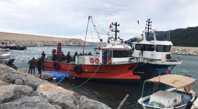Karadeniz'de balıkçı teknesi battı